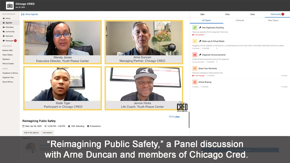 Virtual Event Panel discussion webcast