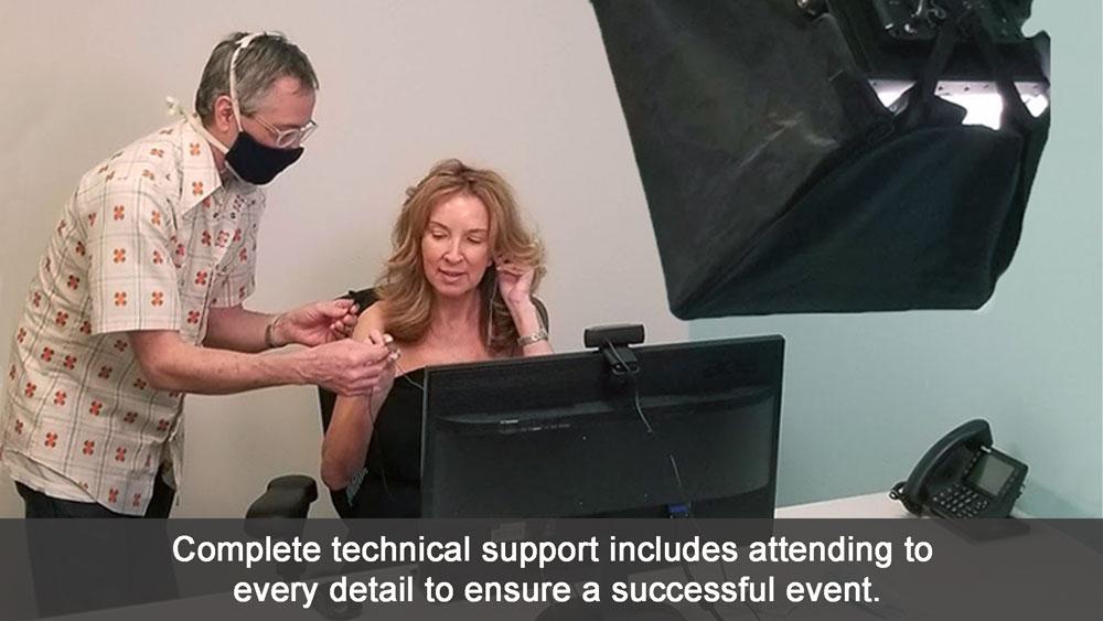 Virtual event tech support service